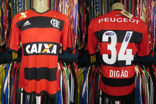 flamengo 2013 camisa titular tamanho m número 34 digão.