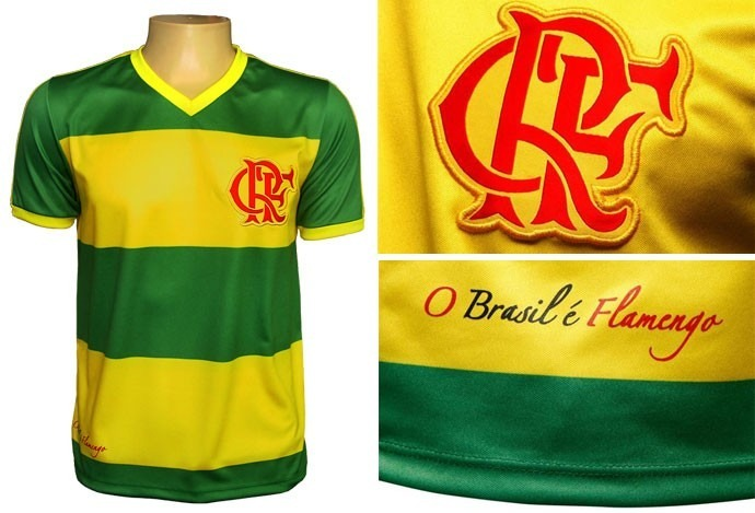 568386484fad6 Camisa Flamengo Brasil Hexa Braziline - R  95