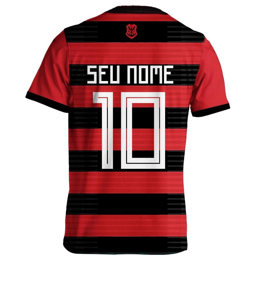 Camisa Do Flamengo 2018 Nova Camisa Personalizada - R  58 b5bd31e5d608c