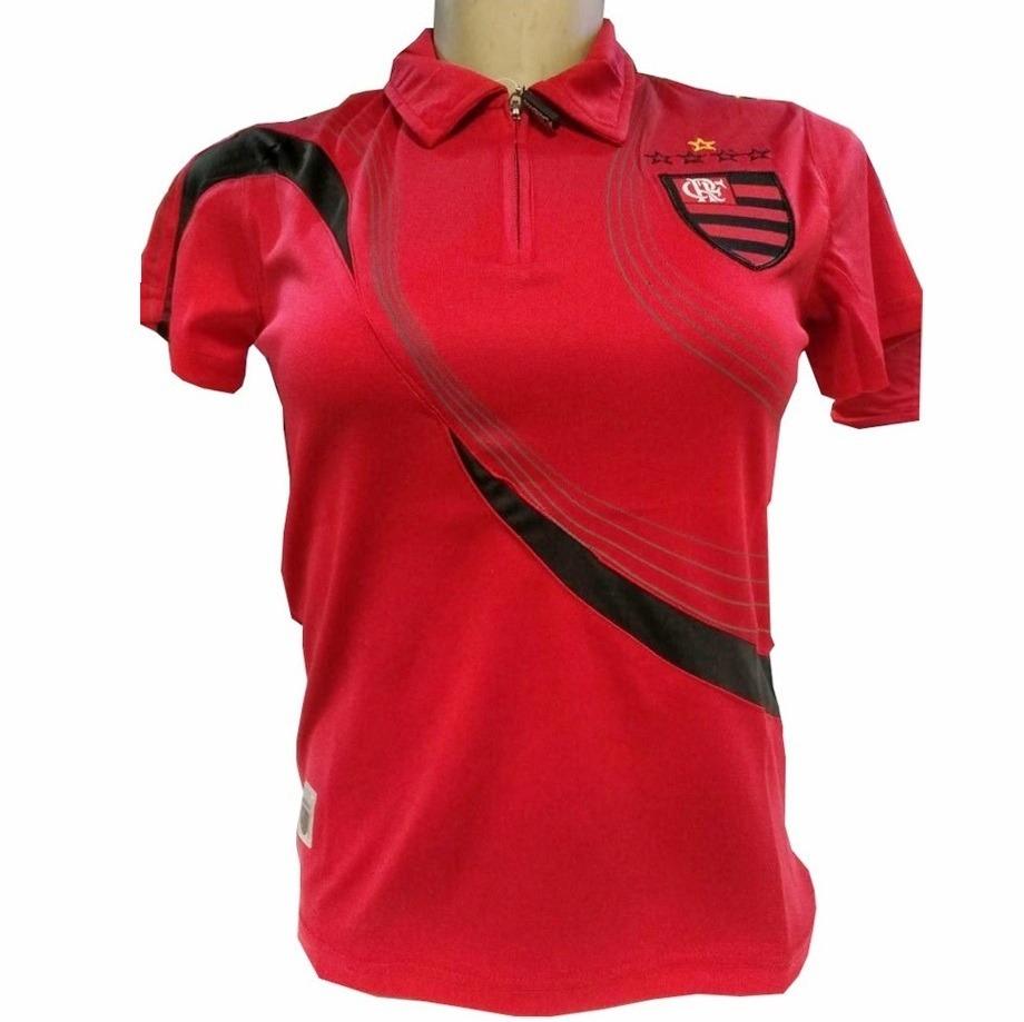 02243b61c5 Blusa Do Flamengo Polo Passeio Camisa Shirt Oficial Feminina - R  69 ...