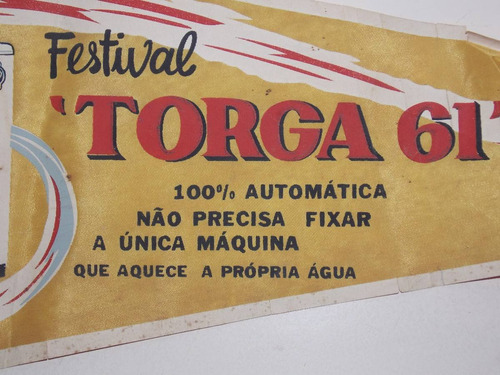 flamula promocional festival máquina de lavar torga 1961