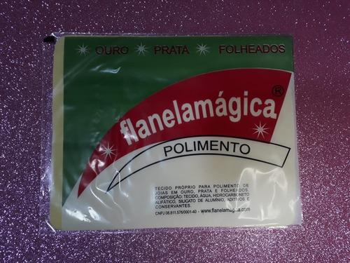 flanela mágica 12 pct c/12 limpa joias pano magico limpeza