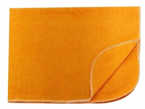 flanela ouro laranja 28x48 para limpeza geral - 12 unidades