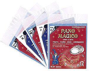 flanela pano magico p limpa ouro prata metal - 5 flanelas pq