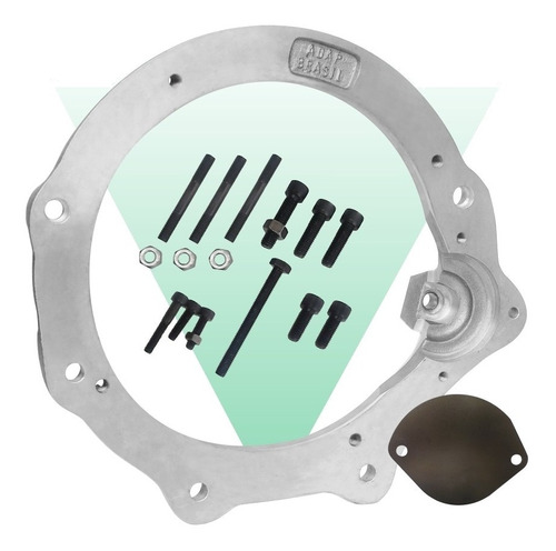 flange adaptadora motor ap x câmbio do fusca adap brasil