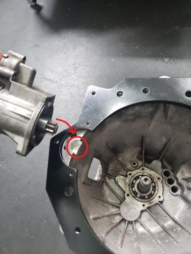flange motor ap x câmbio sportage (gasolina) - adap brasil