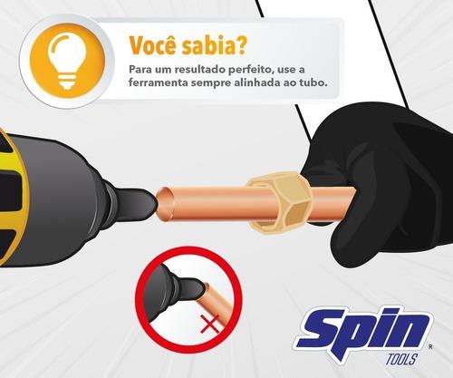 flangeador spin 1/4 a 5/8 kit  flanges em apenas 5 segundos