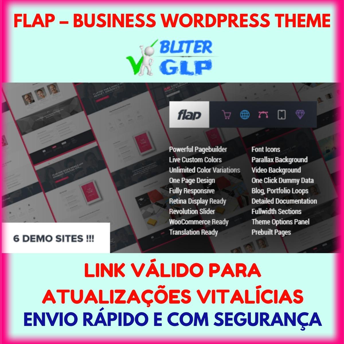 Flap Business Wordpress Theme Atualizado Wordpress Tema