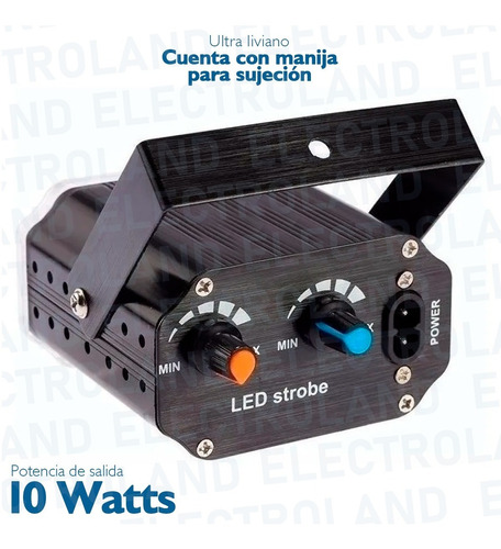 flash 36 led mini rgb audiorrítmico regulable boliches fiest