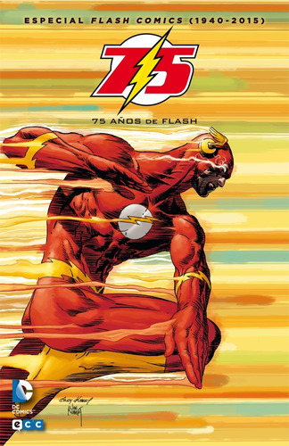 flash 75 años - dc ecc comics - robot negro