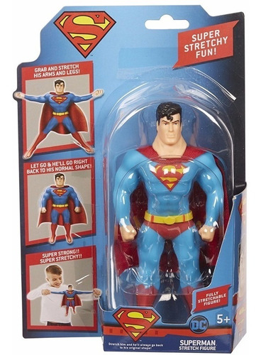 flash batman superman o guason muñeco goma strecht se estira