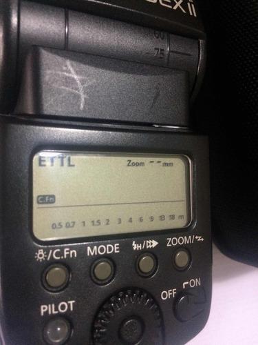 flash canon 580 ex ll con  difusor usado