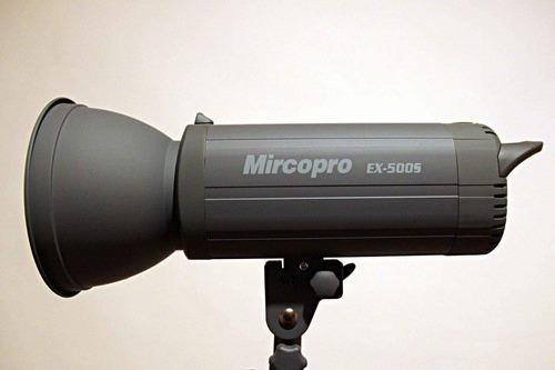flash de estudio 500w mircopro - paquete
