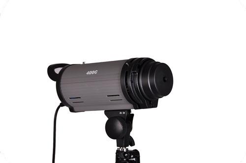 flash de estudio mettle 400 watt con luz de modelado bowens