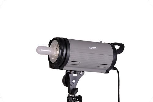 flash de estudio mettle 400 watt con luz de modelado msi
