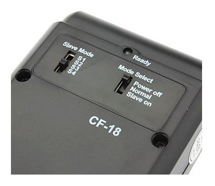 flash digital slave godox cf-18 - com fotocélula