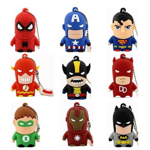 flash drive memoria pendrive usb star wars superhero varios