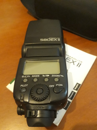 flash electrónico canon eos. speedlite 580ex ii.