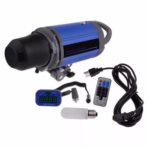 flash estudio 1000w luz modelado control remoto inalambrico
