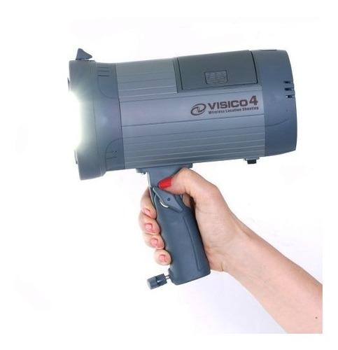 flash estudio a bateria 300w portatil + radio visico4
