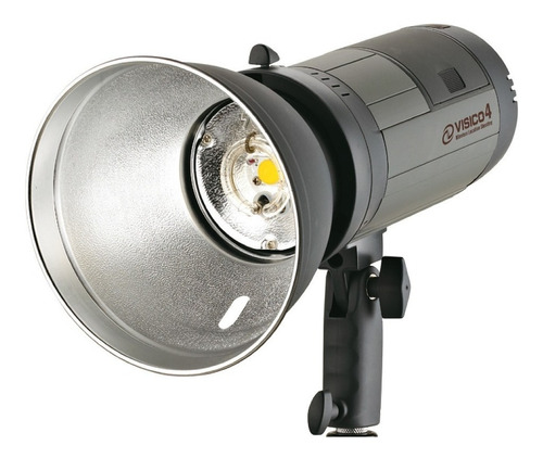 flash estudio a bateria 300w portatil visico4 modelado led