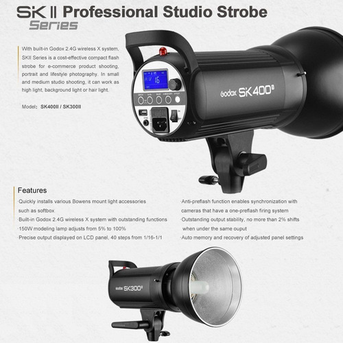 flash estúdio fotográfico godox sk400ii tocha 110v são paulo