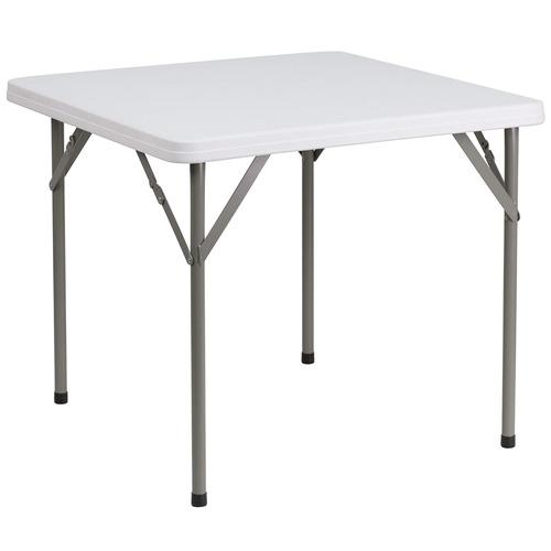 flash furniture 34 mesa plegable de plástico blanco granit