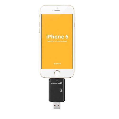 flash i usb drive sd tf lector de tarjetas de memoria para