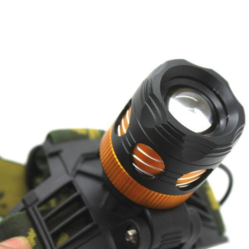 flash lampara cabeza 1 cree xml-t6 3 modo zoom led ligera