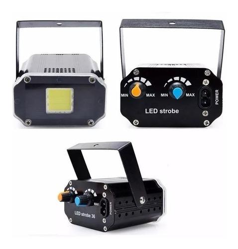flash led audioritmico cob fiestas dj luz estroboscopico