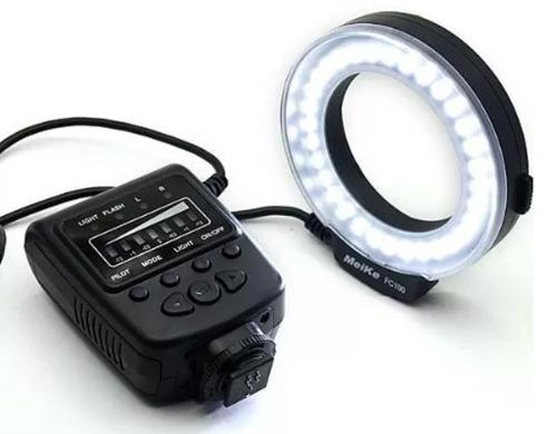 flash macro ring meike fc100 para nikon
