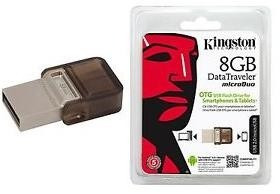 flash memory pendrive 8 gb kingston 2 en 1 usb - otg