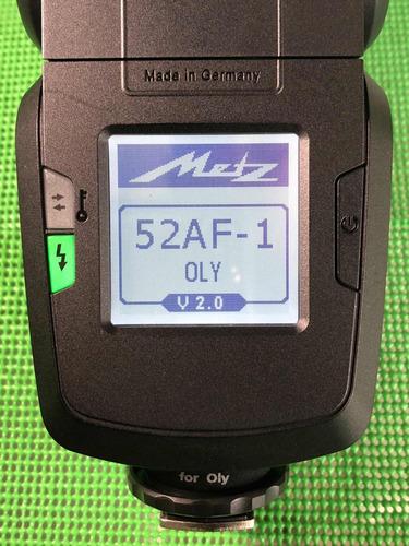 flash metz mecablitz 52 af-1 para olympus, panasonic e m4/3