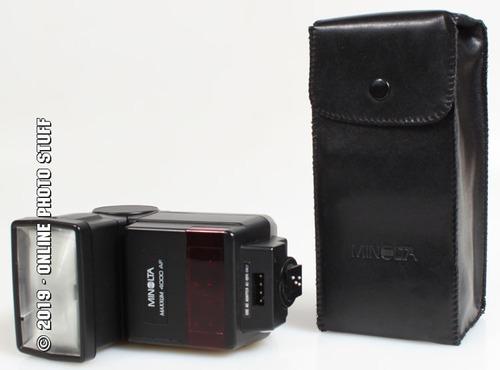 flash minolta 40mts sirve en cualquier cámara