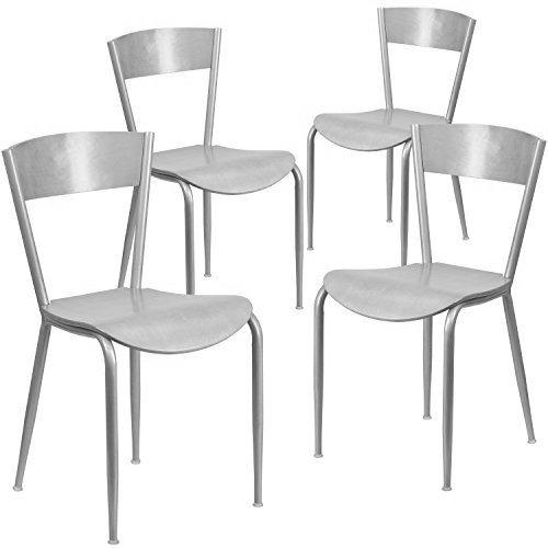 flash muebles invencible serie metal madera respaldo y asien