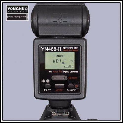 flash para nikon d7000 d5100 d5000 yn-468 ii ttl/m/multi/s1/
