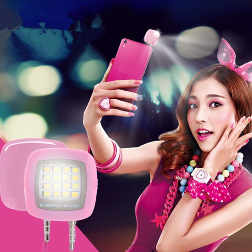 flash portable 16 led para selfie compatibilidad universal
