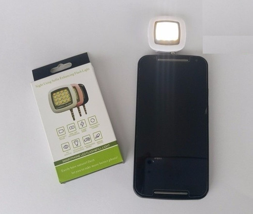 flash portable de 16 led superluminosos para celular + app
