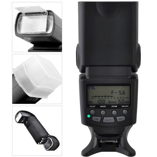 flash profesional ttl gn85 pantalla lcd para canon