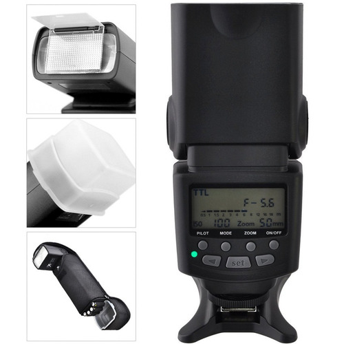 flash profesional ttl gn85 pantalla lcd para canon nikon