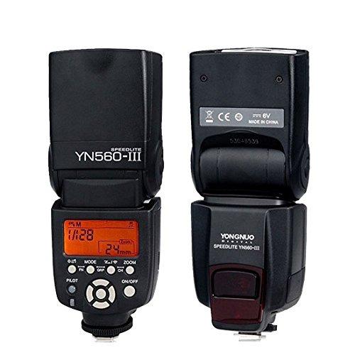 EOS 7D EOS1D Mark EOS 500D Discontinued by Manufacturer EOS 60D EOS 1100D EOS 5D Mark Yongnuo Professional Flash Speedlight Flashlight Yongnuo YN 560 III for Canon Nikon Pentax Olympus Camera // Such as: Canon EOS 1Ds Mark EOS 600D EOS 550D