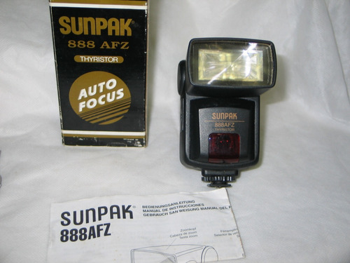 flash sunpak 888z afz thyristor na caixa com manual