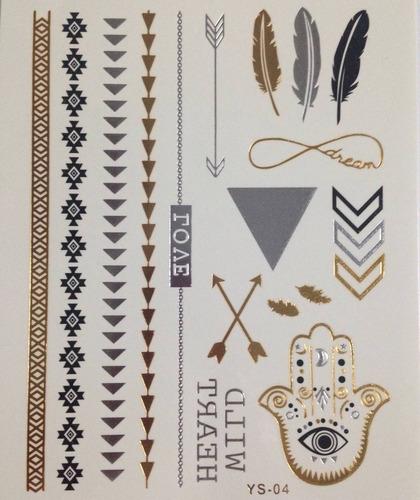 flash tatto tatuagem dourada temporária moda