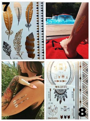 flash tattoo - tatuajes metalicos temporales importados