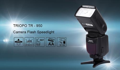 flash triopo tr950 tr-950 universal p/ canon nikon fuji etc