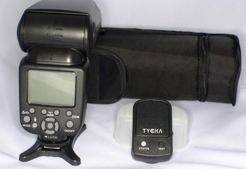 flash tycka ttl para nikon, incluye radio.
