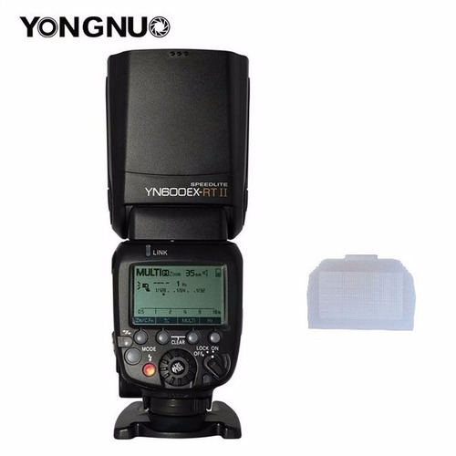 flash yn600ex-rt ll ttl hss yongnuo canon (difusor brinde)