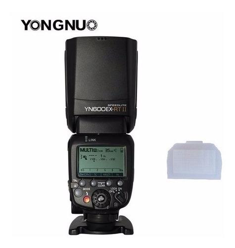 flash yn600ex-rt ll ttl hss yongnuo p/canon (difusor brinde)