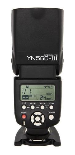 flash yongnuo yn 560 iii + rebatedor difusor leque universal
