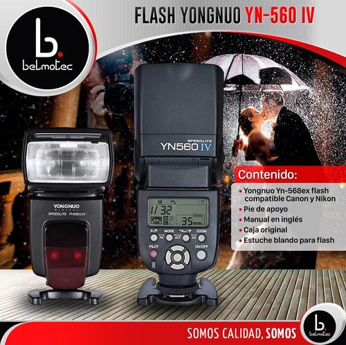 flash yongnuo yn-560 iv speedlite p/ nikon canon lcd gtia